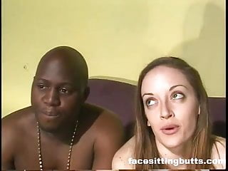 White girl gets her booty pumped