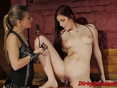 Strapon Fucked Euro Dominated And Spanked