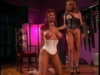 2 big tits chicks into bondage, BDSM and lesbian action