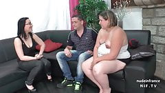 Casting couch of a fat french blonde sodomized and jizzed