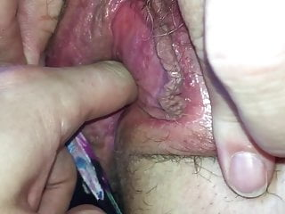 Mates mum showing her tits and playing with pussy