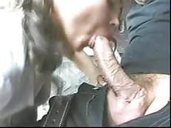 Blonde with big natural tits gang bang anal, tit slapped