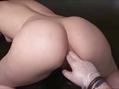 She enjoys dildoing her pussy and plugging her ass