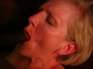 Horny Mature Blonde first Black Cock
