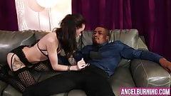 Slutty chick enjoys in a huge black cock
