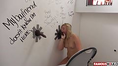 Melissa May Gets The Biggest Glory Hole Cock