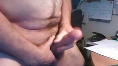Office wank & cum (recorded live cam)
