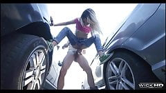 Sexy Latina Pounded On The Car