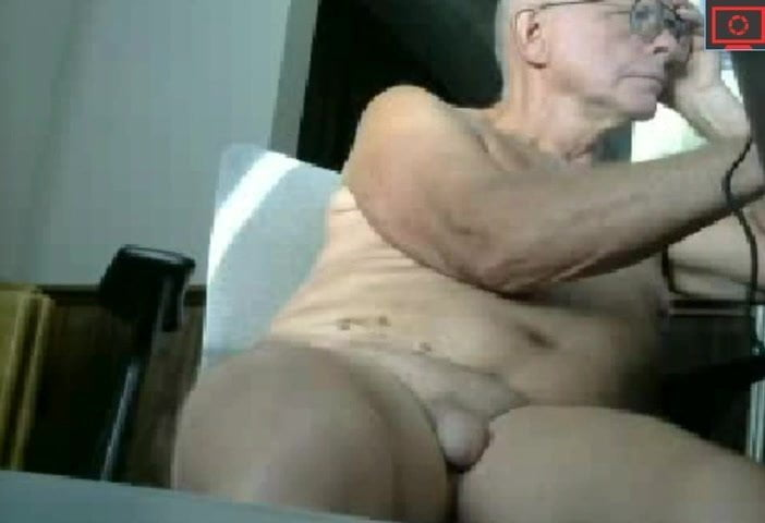 old man chatting naked