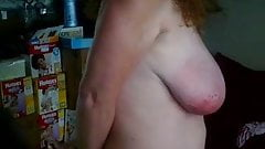 B's tit slapping