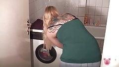 Fucking on the washing machine