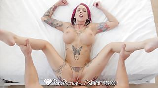 PureMature Juicy creampie fuck with milf Anna Bell Peaks