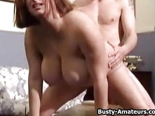 Busty Helena fuck two horny dudes