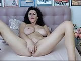 Busty Babe Masturbates Until Her Pussy Gets Wet