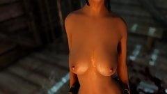 Lara croft fuck with monster