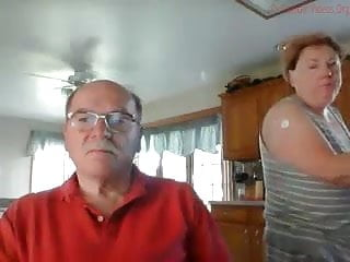 Wanking Grandpa Almost Gets Caught