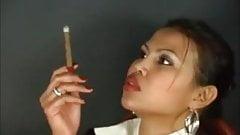 Blouse Collar Up Smoking Girl