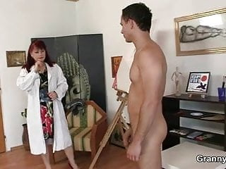 She enjoys riding his young dick