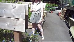 Up skirt milf garden center