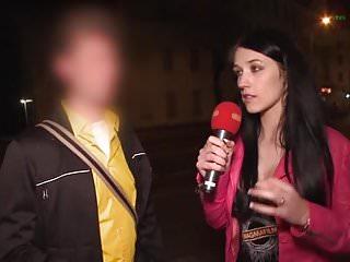 Busty German Cougar Blows Stranger