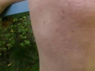Young Hairy Pussy Redhead Walks Nude In The Garden