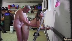 Old Grandpa Fucks Gina Gerson And Her Girlfriend In Hardcore