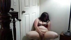 Very horny Fat Chubby Teen GF Cumming in her bedroom