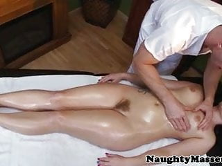 Casey Cumz naked at massage table