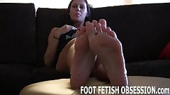 You have both pairs of our feet to worship