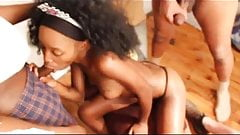ebony girl lets us all have a gangbang party in her mouth's Thumb