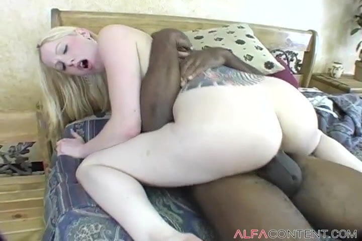 Tattooed Blonde Destroyed By Massive Black Cock