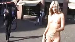 Cynthia blonde nude in public
