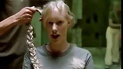 sexy blonde girls headshave in music video