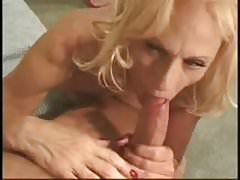 stockings wearing blonde granny ravaged on a bed
