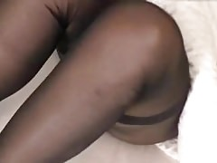 Sexy legs of mature mom in black pantyhose amateur Thumbnail
