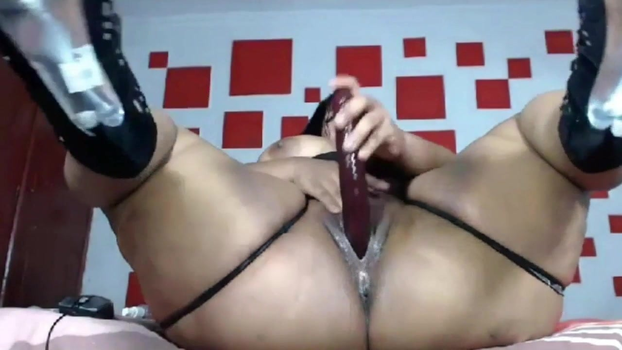 Bbw Ebony Riding Dildo Solo