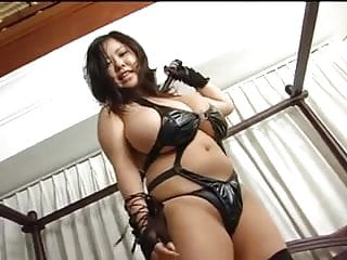 Asian With Giant Big Tits In Latex