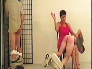 strong woman spanks two mans part 4 of 4