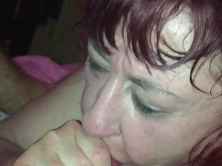 Wagtail007 mature BBW - blowjob facial and cum in mouth