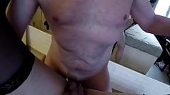 Daddy pushed his cock all the way inside my pussy