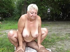 Nudist fucks granny in public's Thumb