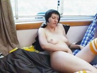 Daphene Rubs and Fingers Her Hairy Twat to Cum WF