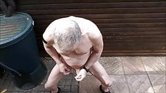 jerking public outdoor exhibitionist cumshot