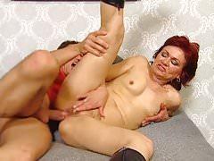 Redhead Granny Takes Anal Pounding
