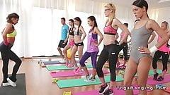 Spaß nach dem Yoga-Kurs