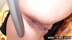 Teen ANAL Toying With Extra Long Dildo