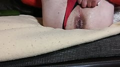 piss myself in ass with dildo and slip