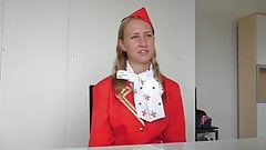 Russian Air hostess fucked