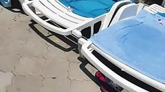 Spy pool boobs romanian