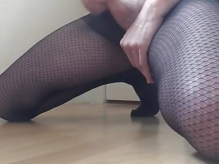 Preview 2 of Wanking and cumming in my wife's tights
